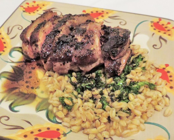 Duck & Orzo Served