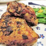 Chicken Thighs with Pea Pods