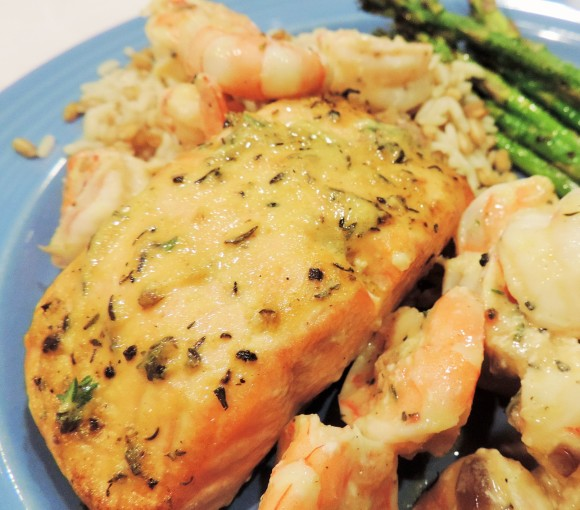 Mustard Salmon & Shrimp