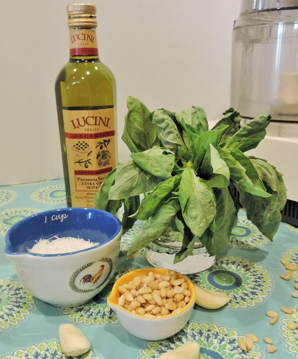 Traditional Pesto Ingredients