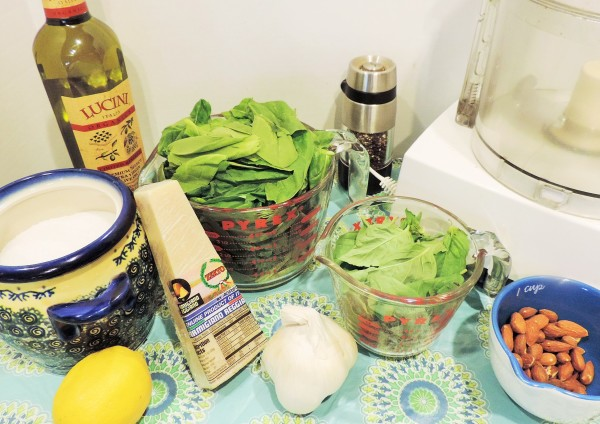 Spinach Pesto Ingredients
