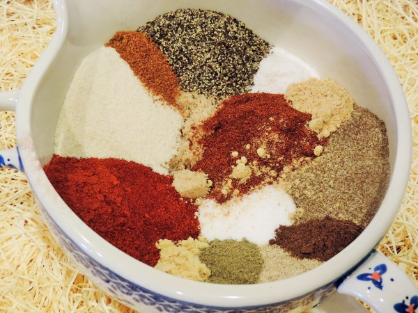 BBQ Rub Ingredients Ready for Mixing
