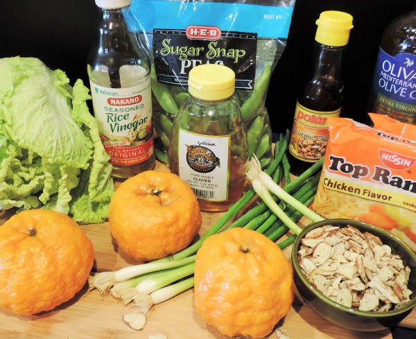 Asian Citrus Ramen Salad Ingredients
