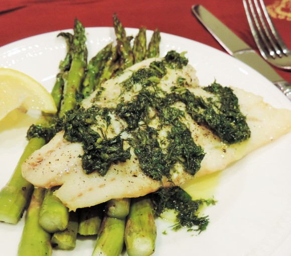 Cod and Herb Pesto