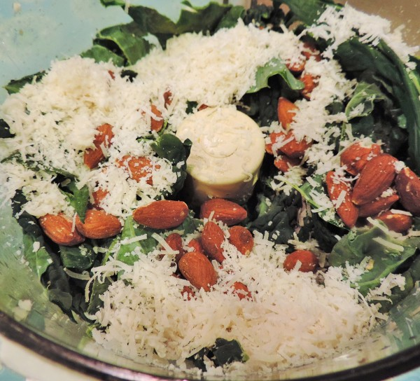 Tuscan Kale Cheese & Almonds