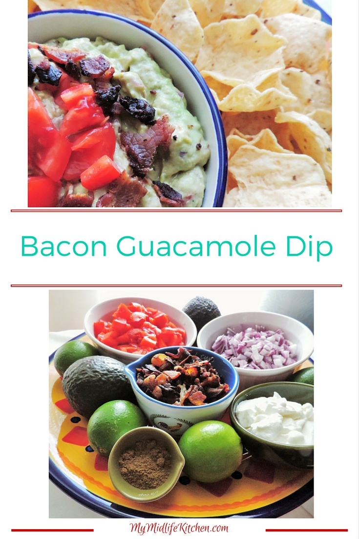 Bacon Guacamole Dip - My Midlife Kitchen