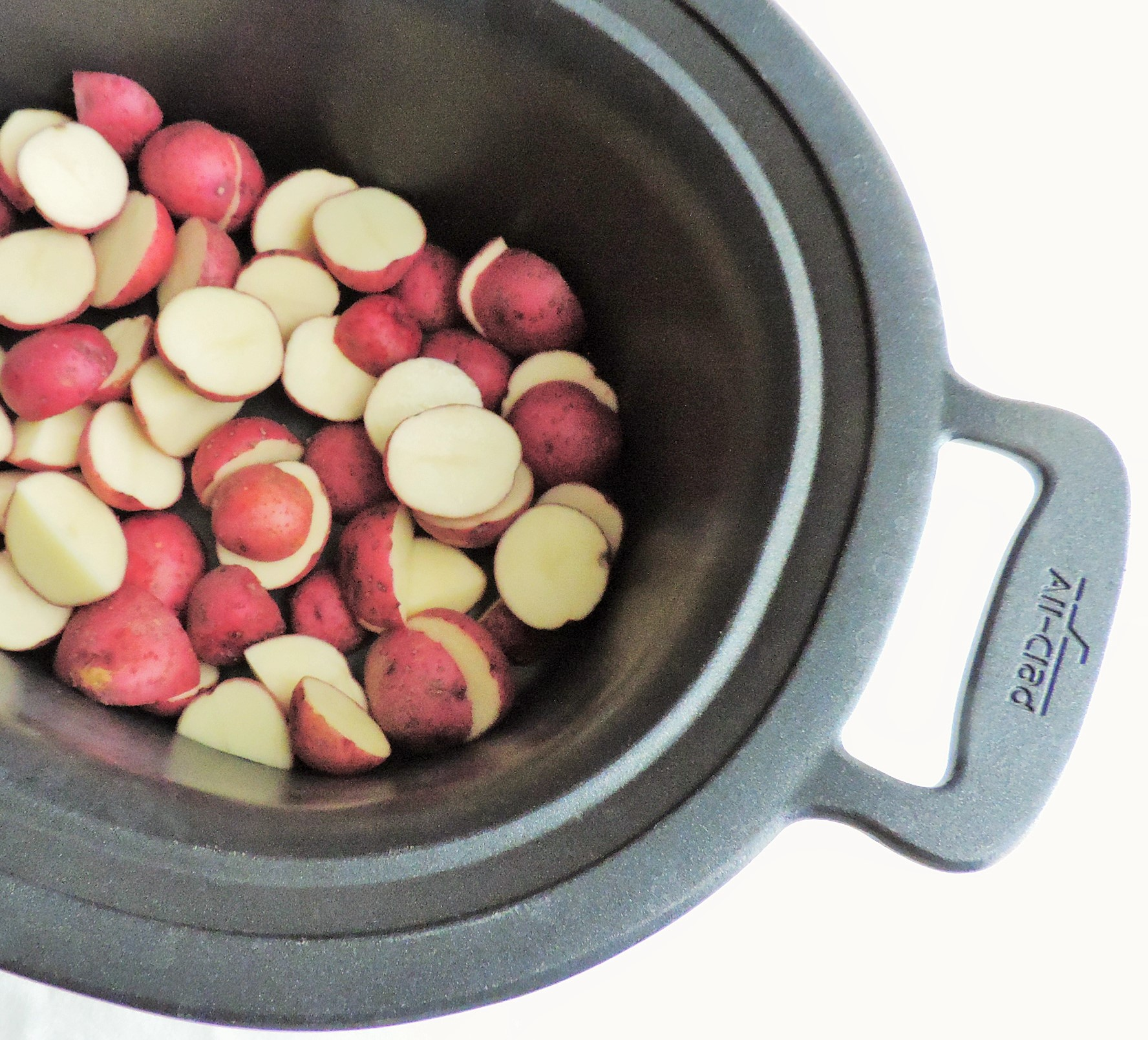 Steamed Mashed Crock Pot Red Potatoes My Midlife Kitchen