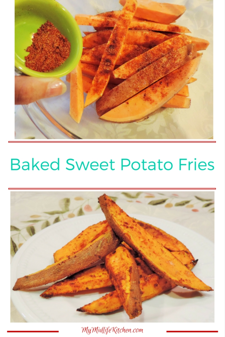 Baked Sweet Potato Fries - My Midlife Kitchen