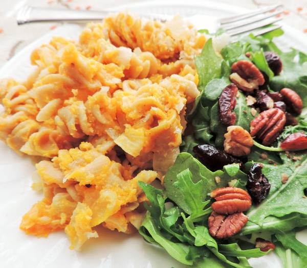 Fall Squash Mac & Cheese and Side Salad