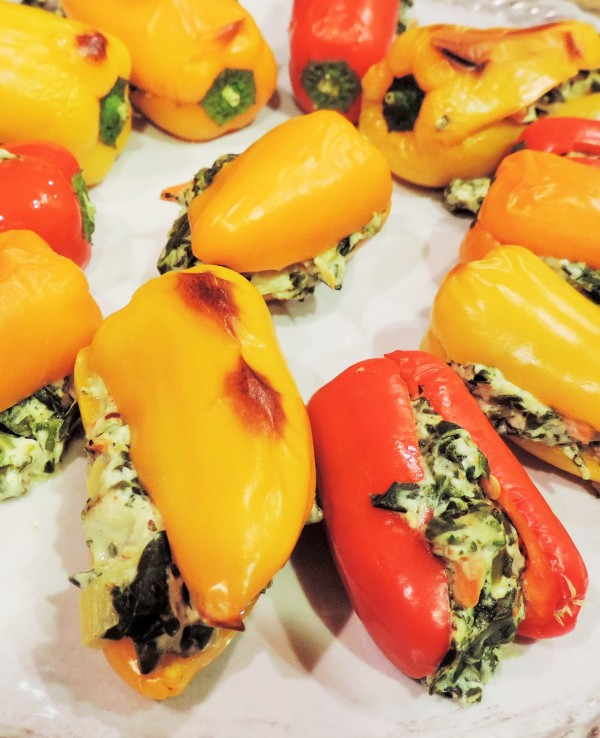 Spinach Dip Stuffed Bell Peppers