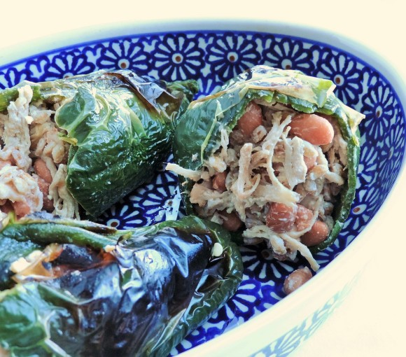 Tex Mex Stuffed Poblanos