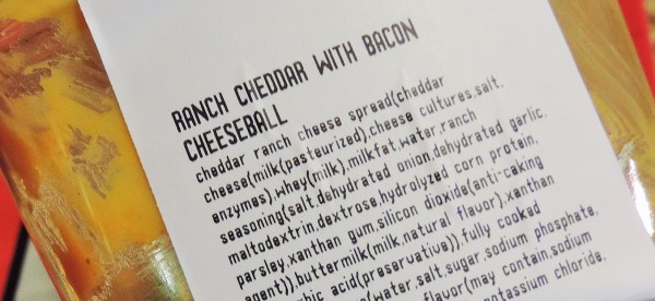 Cheese Ball Label