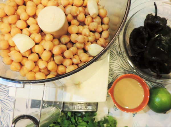 Roasted Poblano Hummus Ingredients