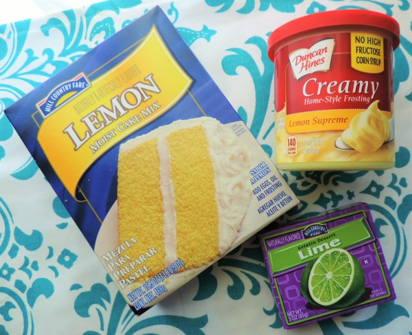 Lemon Lime Cupcake Ingredients