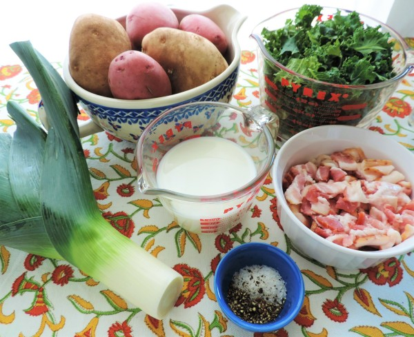 Colcannon with Kale Ingredients