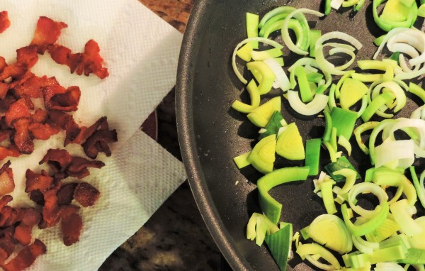Leeks and Bacon for Colcannon