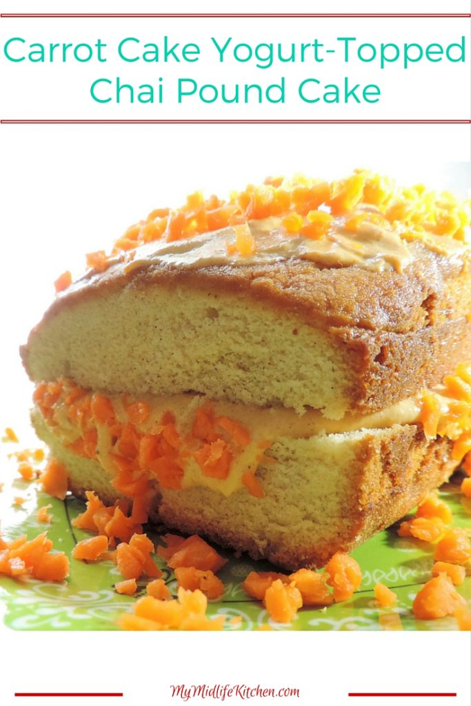 Carrot Cake Yogurt Topped Chai Pound Cake