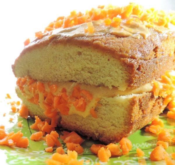 Carrot Cake Yogurt-Topped Chai Pound Cake