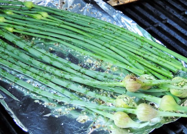 Grilling Garlic Scapes