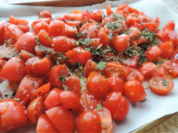 Tomatoes Ready for Roasting