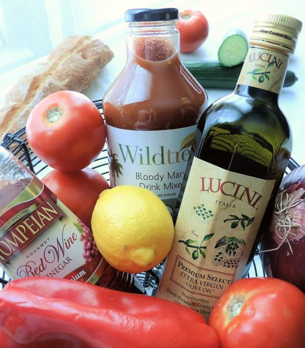 Chilled Summer Gazpacho Ingredients