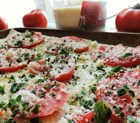 Easy Summer Tomato Flatbread Assembly