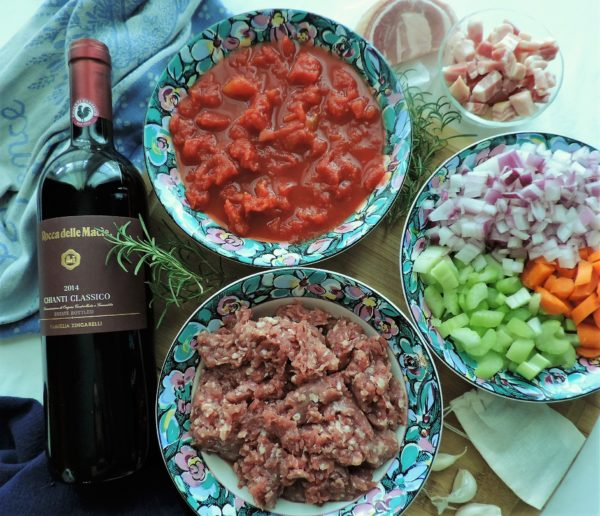 Wild Boar Bolognese Ingredients