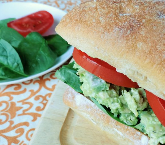Healthy Avocado Chicken Salad Sandwich
