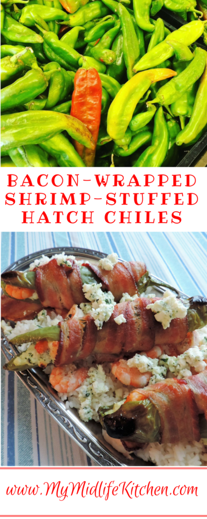 Bacon Wrapped Shrimp Stuffed Hatch Chiles