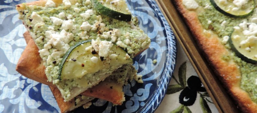 Summer Bounty Pesto Zucchini Flatbread