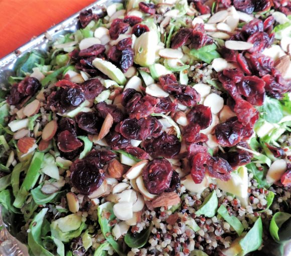 Brussels Sprout Quinoa Salad with Cranberries